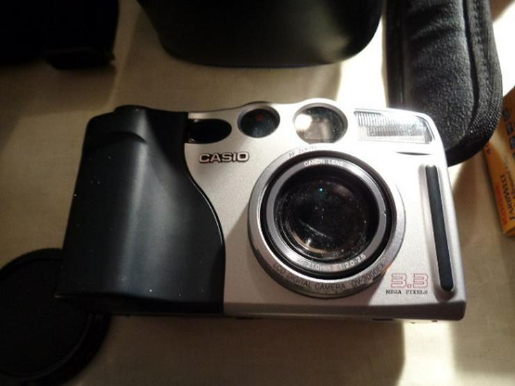 Bild 6: 2 Kameras Canon+Casio Digital+2 Objektive+Blitz in Taschen