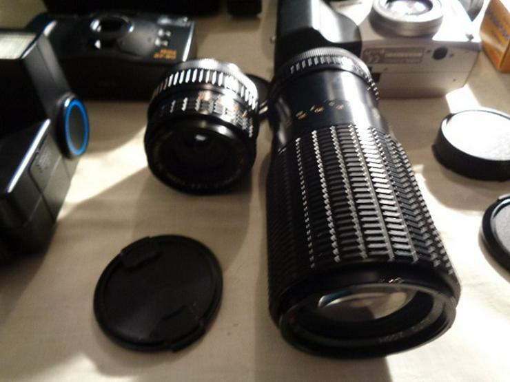 Bild 4: 2 Kameras Canon+Casio Digital+2 Objektive+Blitz in Taschen