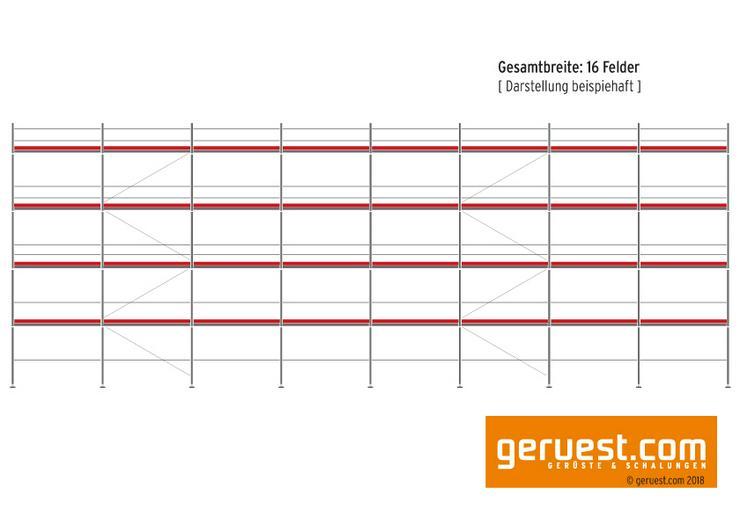 501 m² gebrauchtes Baugerüst / Fassadengerüst - Layher Blitz 73