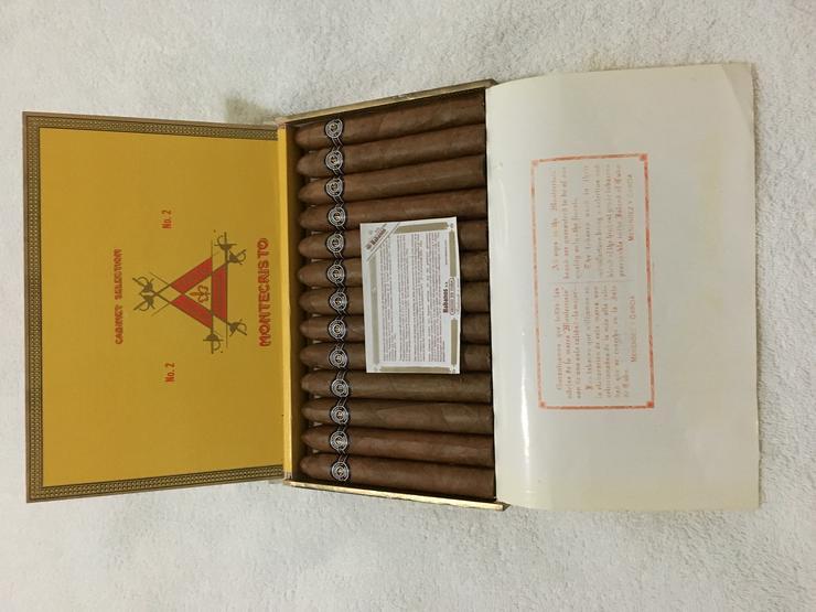 1 Holzkiste 25 Stk. Original Montecristo No. 2 Zigarren Kuba