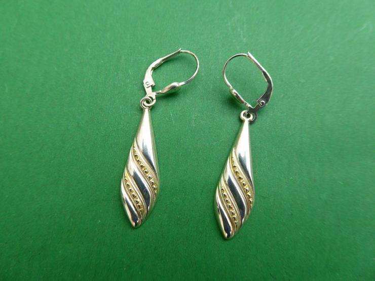 Ohrringe, Silber 925, teilvergoldet.