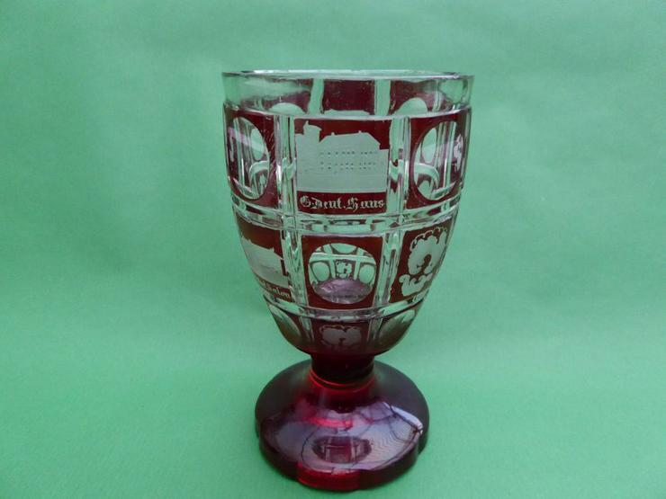 Rubinglas, Biedermeier, um 1840 - 1860