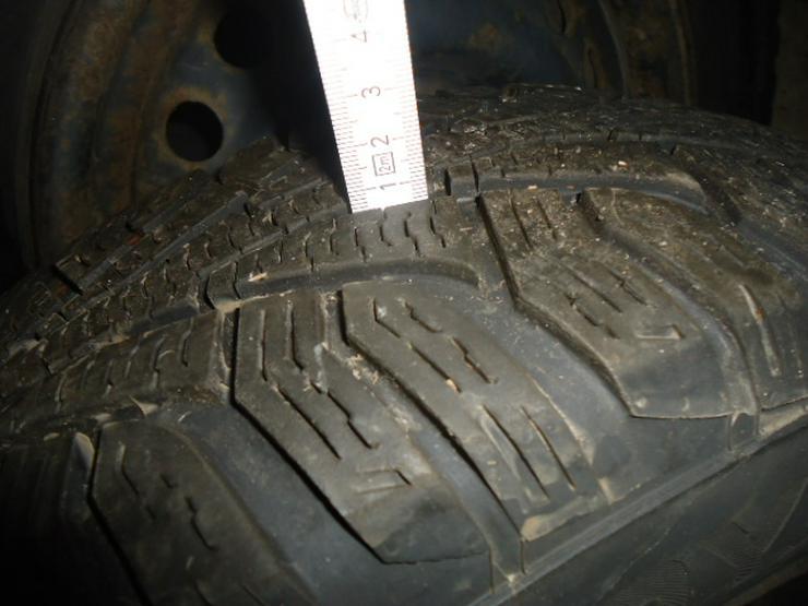ein Satz Wintereifen gebraucht 3 Jahre alt 5mm für Opel Astra F / Corsa B auf Stahlfelgen 4 Loch