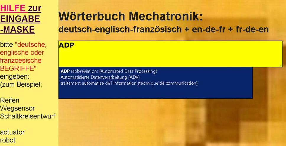 vocabulaire/ dictionnaire mecatronique-composants/ automatisme/ hydraulique