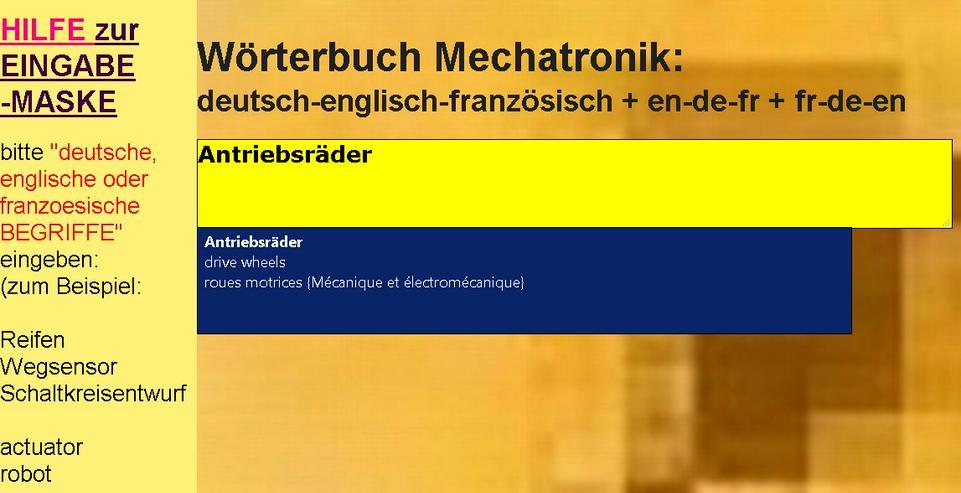 Bild 2: vocabulaire/ dictionnaire mecatronique-composants/ automatisme/ hydraulique