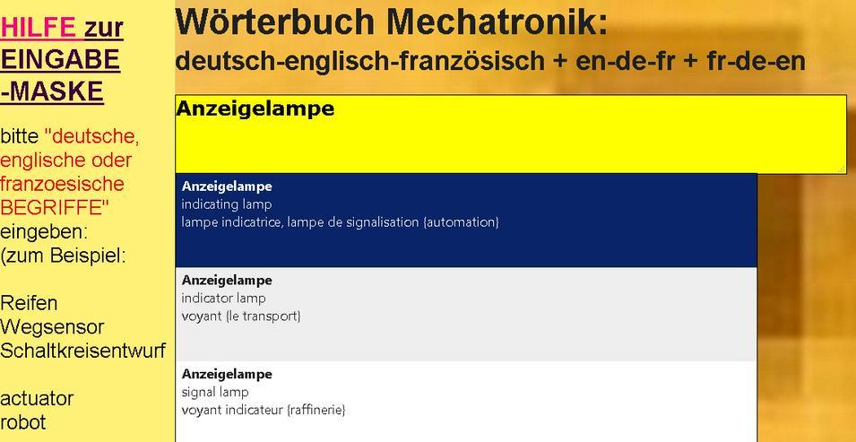 Bild 3: vocabulaire/ dictionnaire mecatronique-composants/ automatisme/ hydraulique