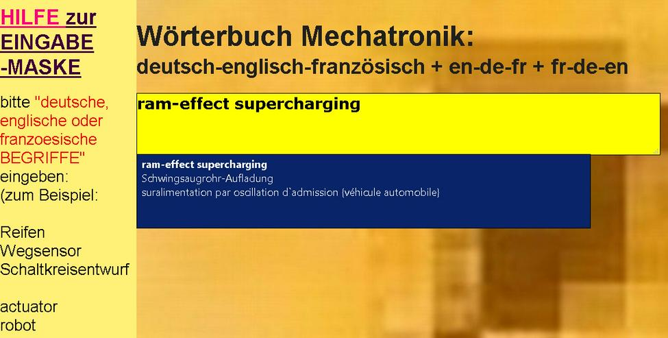Bild 5: vocabulaire/ dictionnaire mecatronique-composants/ automatisme/ hydraulique