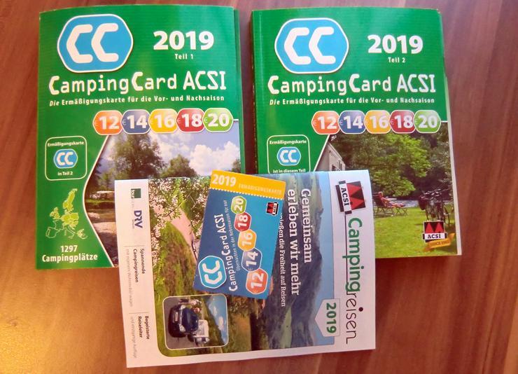 ACSI Campingcard-Kataloge und ACSI-Card 2019