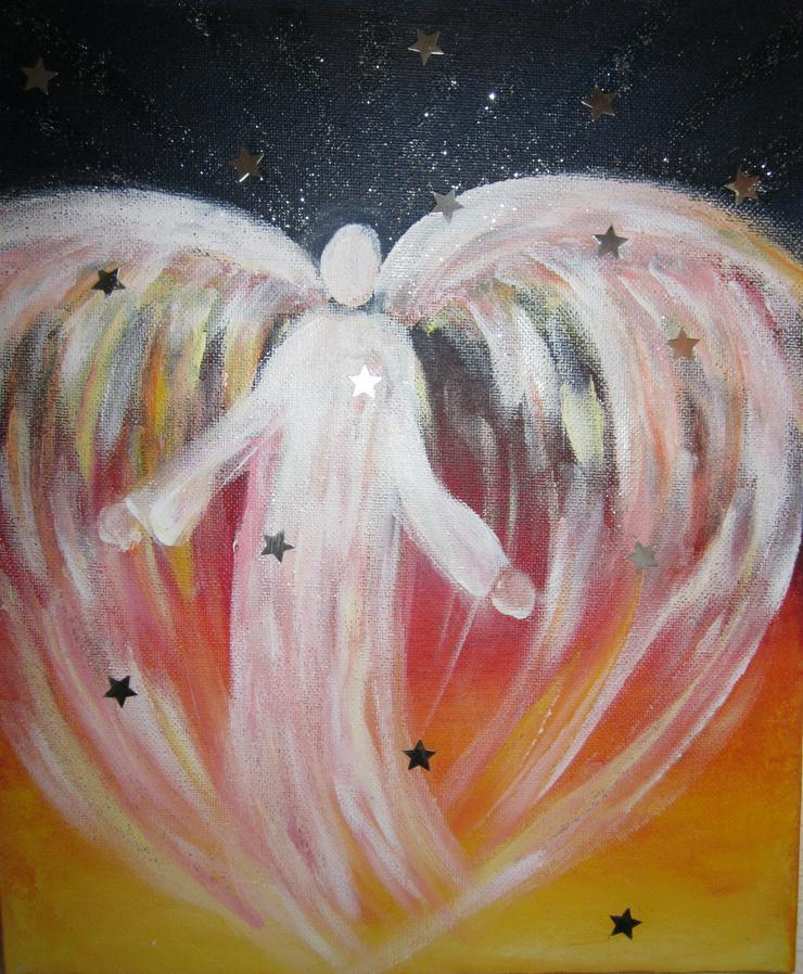 Engel-Erlebnis-Abend mit meditativem Schutzengel-Energiebild-Malen