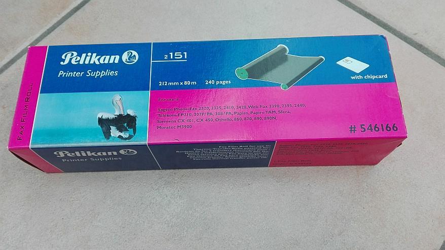 Faxrolle Pelikan Fax Film Roll Druckfolie 546166 Gr.2151 mit Chip, 240 Seiten - Büro-Kleingeräte - Bild 1