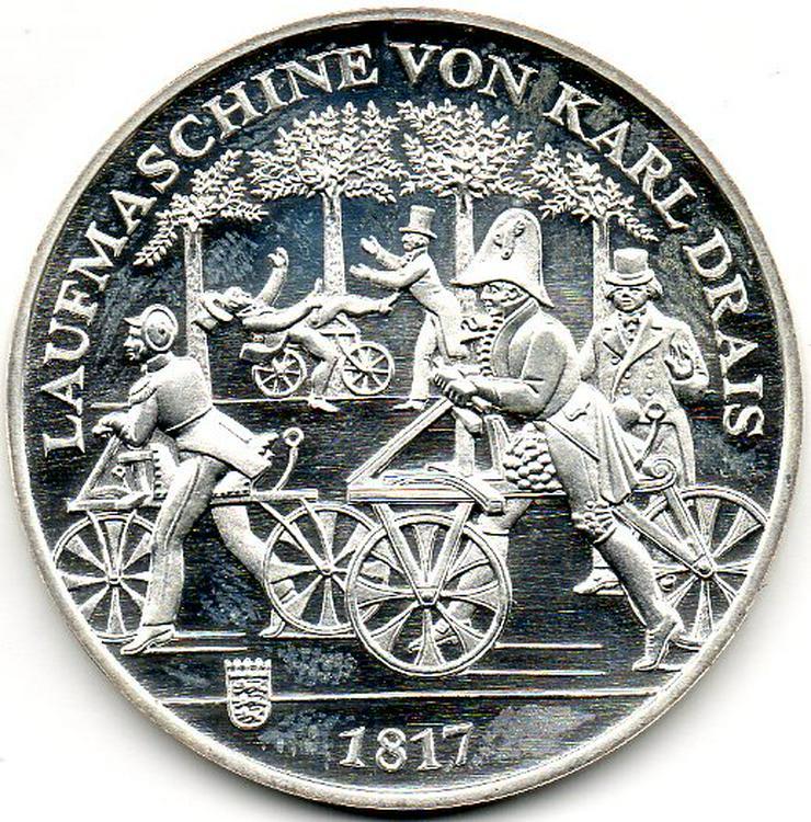 Silber Sonderprägung (st) 2017 zu Ehren Karl Drais
