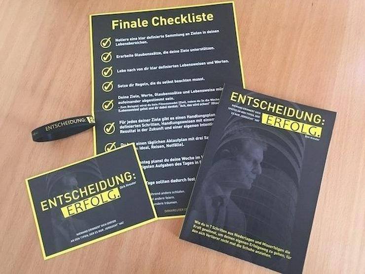 """Buch """"Entscheidung:Erfolg"""" von Dirk Kreuter plus """"Zubehör"""""""