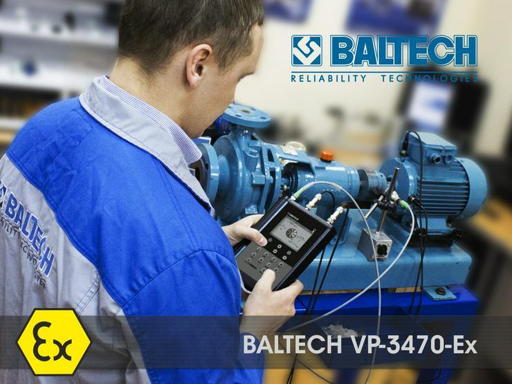 Bild 6: Mesure de la maîtrise des vibrations – vibrorate BALTECH VP-3405-2