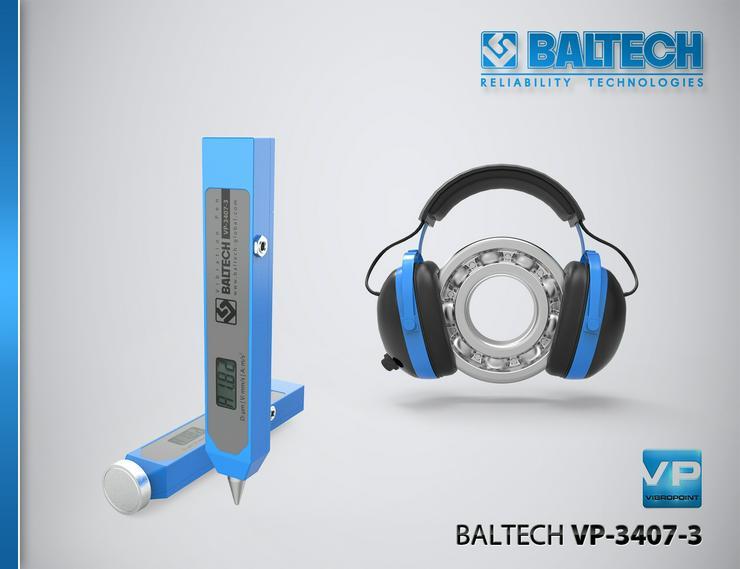 Bild 5: Mesure de la maîtrise des vibrations – vibrorate BALTECH VP-3405-2