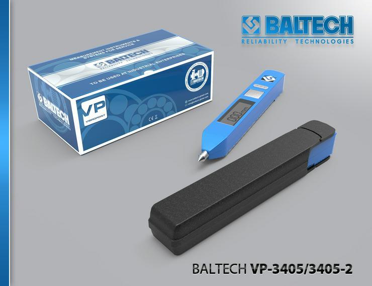 Bild 2: Mesure de la maîtrise des vibrations – vibrorate BALTECH VP-3405-2