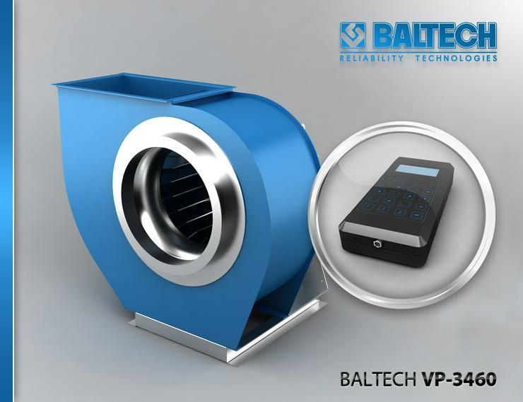 Bild 3: Mesure de la maîtrise des vibrations – vibrorate BALTECH VP-3405-2