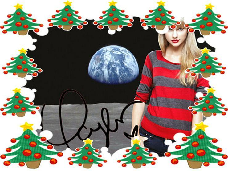 TAYLOR SWIFT – signiertes Wandbild vom Mond. NEU!