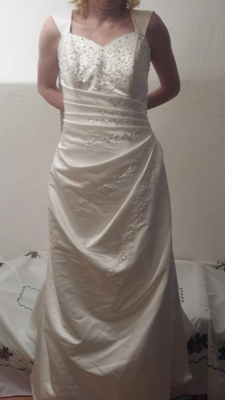 Traumhaftes Hochzeitskleid / Brautkleid Gr. 38 – 40 in weiß TOP!