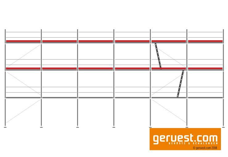 126 m² Layher Blitz Arbeitsgerüst | Robustböden + Durchstiege
