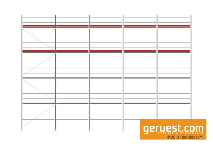 157 m² Layher Blitz 73 gebraucht & günstig | Baugerüst / Arbeitsgerüst / Fassadengerüst / Malergerüst - Leitern & Gerüste - Bild 1