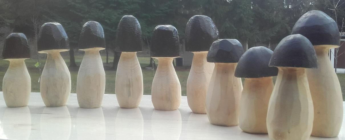 Bild 5: Dekopilz, Holzpilz, Pilz aus Holz