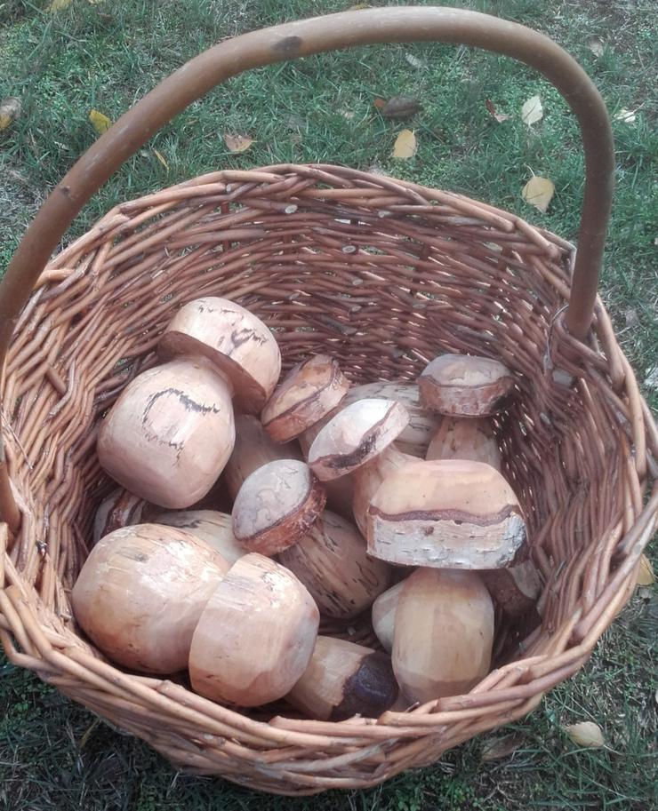 Bild 2: Dekopilz, Holzpilz, Pilz aus Holz