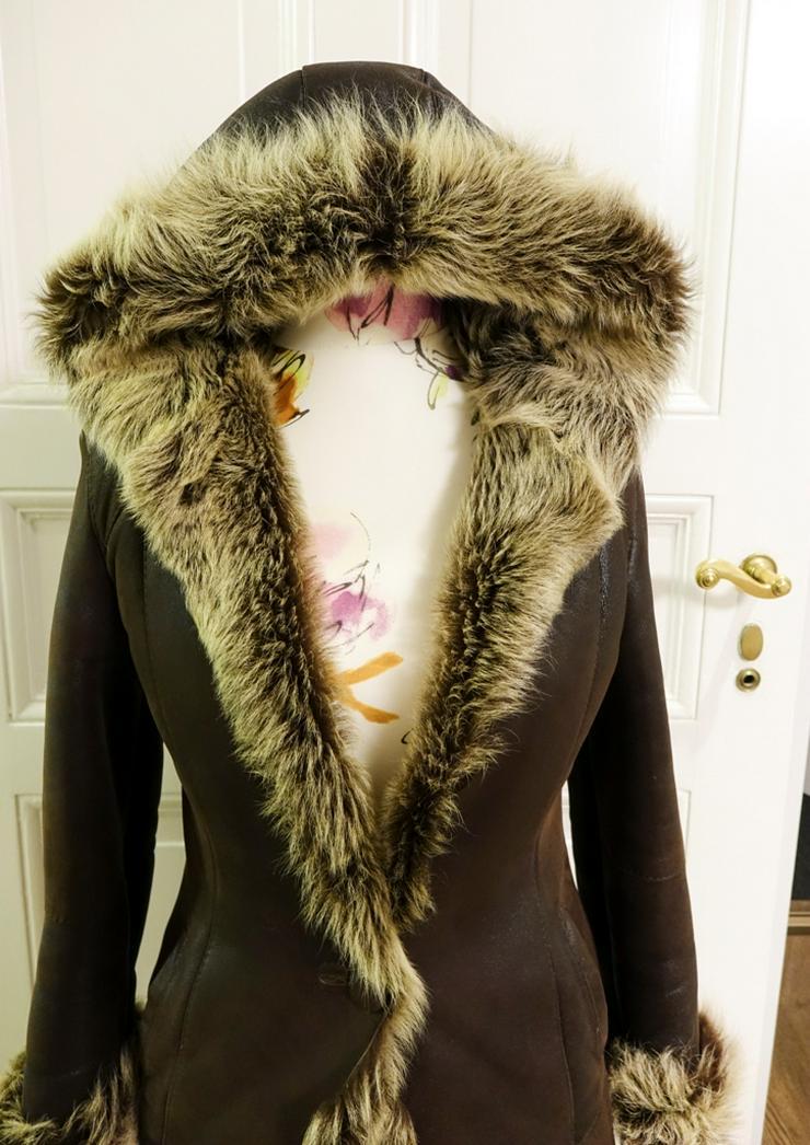 Winter Mantel Damen dunkelbraun Natural  Gr 36