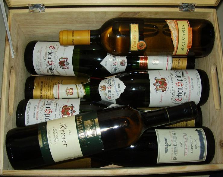 Bild 5: Verkaufe 9 Weinflaschen von 1999-2004