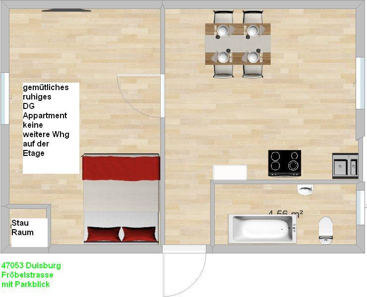 Bild 3: 2 Zimmer Whg Duisburg HHU - UDE