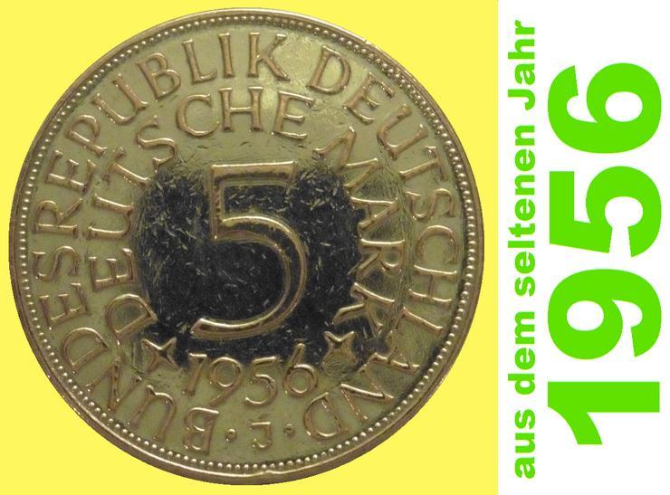 10 x 5 DM Silber-Münzen, Silberadler, Heiermann, 1956 – SELTEN