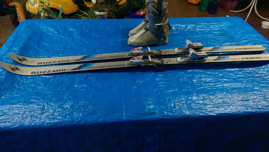 Bild 2: TOP SKI-SET > BLIZZARD° Abfahrt Skier 190cm + ALPINA° Stiefel Größe 44-46 + MARKER° Skistöcke 118cm