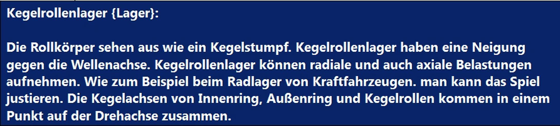 Bild 5: Begriff Spannlager Welle Zahnrad Maschinenkarte erklaeren