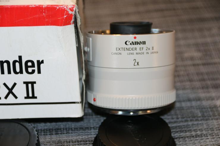 Canon EXTENDER EF 2x II, sehr selten benutzt. Incl. OVP