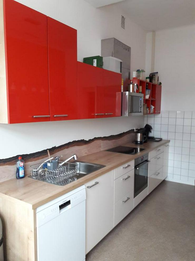 Küchenzeile Trend Lack Rot-Weiß mit Elektrogeräten