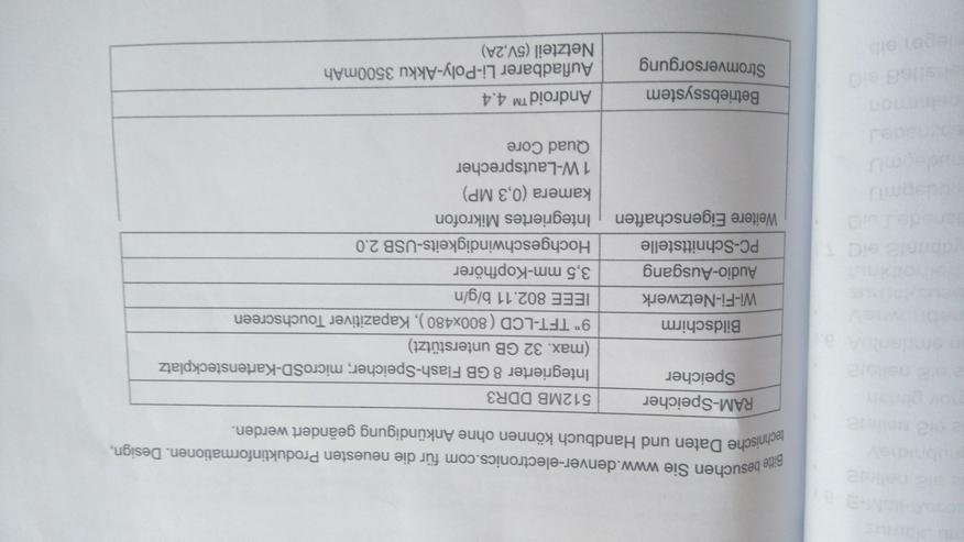 """Bild 2: Verkaufe Tablet Quad Core /TAQ-90052/ 9""""(22.86CM) WITH WI-FI & ANDROID 4.4"""