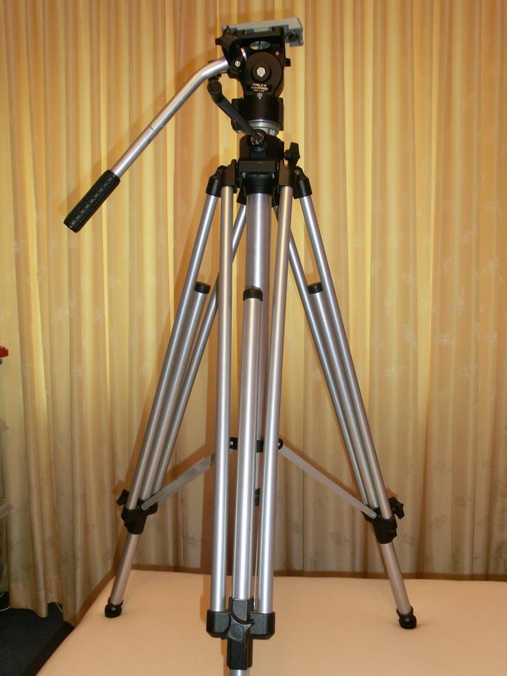 Kamerastativ Manfrotto für Camcorder und Fotoapparate bis 12 kg mit Stativ-Wagen