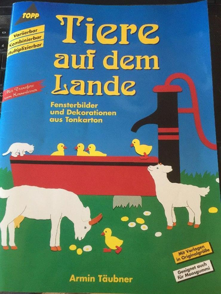 Tiere auf dem Lande, Fensterbilder und Dekorationen aus Tonkarton - Handarbeiten & Basteln - Bild 1