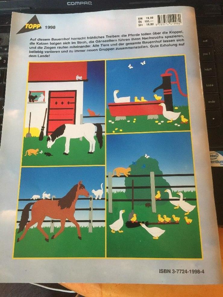 Bild 2: Tiere auf dem Lande, Fensterbilder und Dekorationen aus Tonkarton