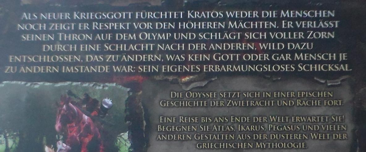 Bild 3: God of War 2 Playstation 2 Spiel Game Fantasy Mythologie