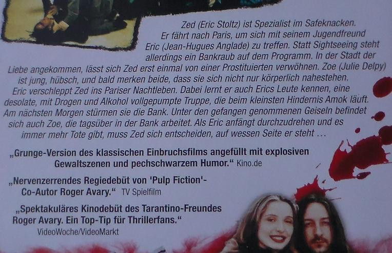 Bild 3: Killing Zoe DVD Film Action Thriller Gangster Eric Stoltz Jean-Hugues Anglade Julie Delpy