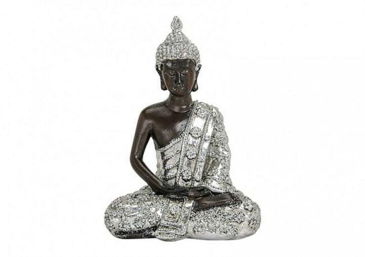 TOP Buddha in silber-schwarz