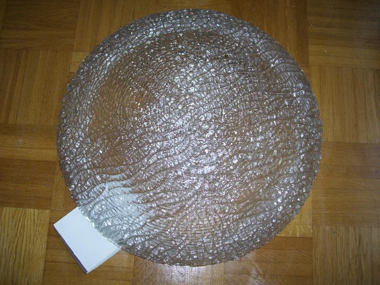 50 ger Jahre Deckenleuchte 50 cm Durchmesser schweres Glas 8mm stark