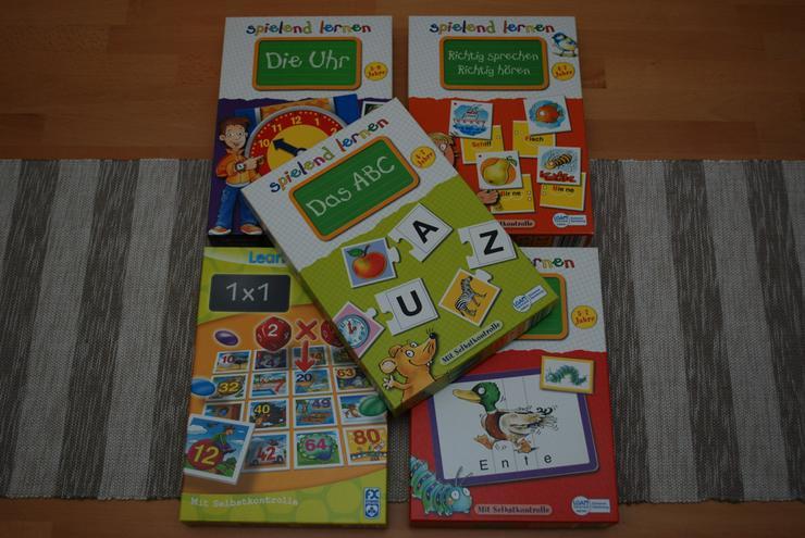 Puzzle Lernpuzzle Set 5 Stück Neuwertig !!!