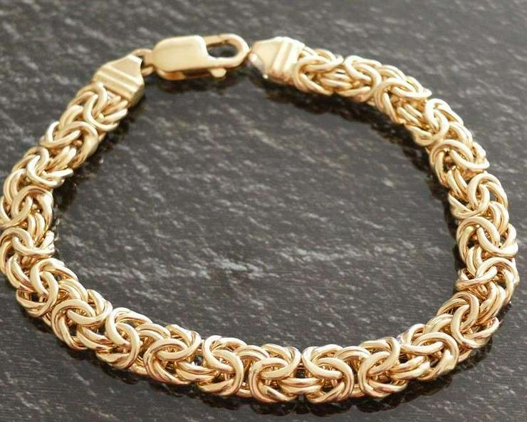massives Königsketten-Armband Gelbgold 585