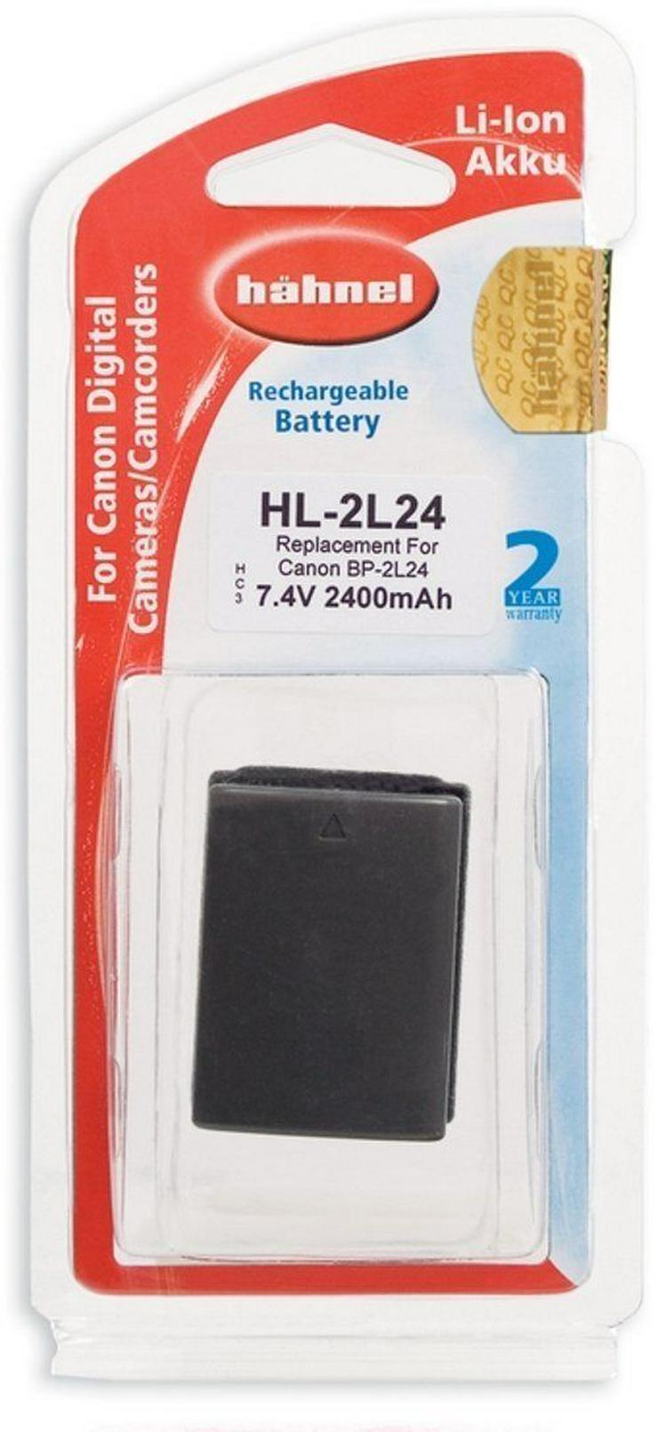 Hähnel HL-2L24 Li-Ion Akku 2400mAh 7.4V für Canon Digital Cameras/Camcorders