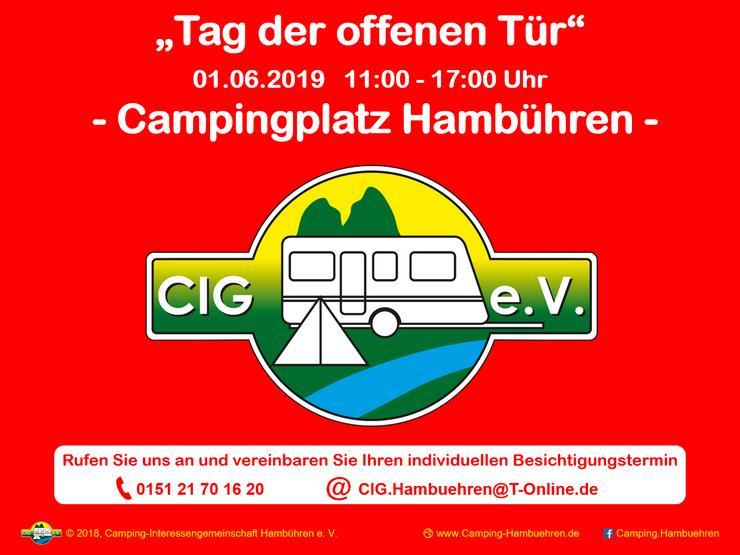 """""""Tag der offenen Tür"""" am 01.06.2019 auf dem Campingplatz Hambühren"""