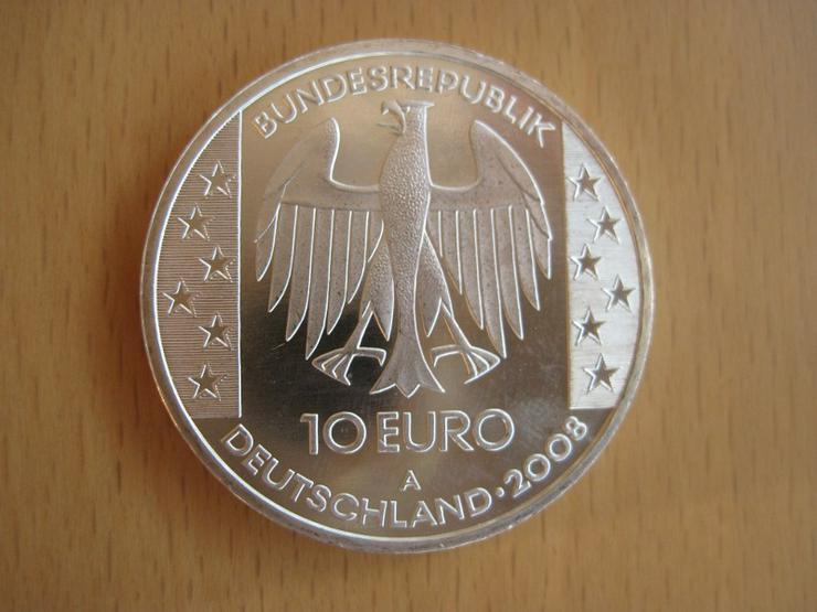 Bild 2: 10 Euro Münze Himmelsscheibe von Nebra 2008 A