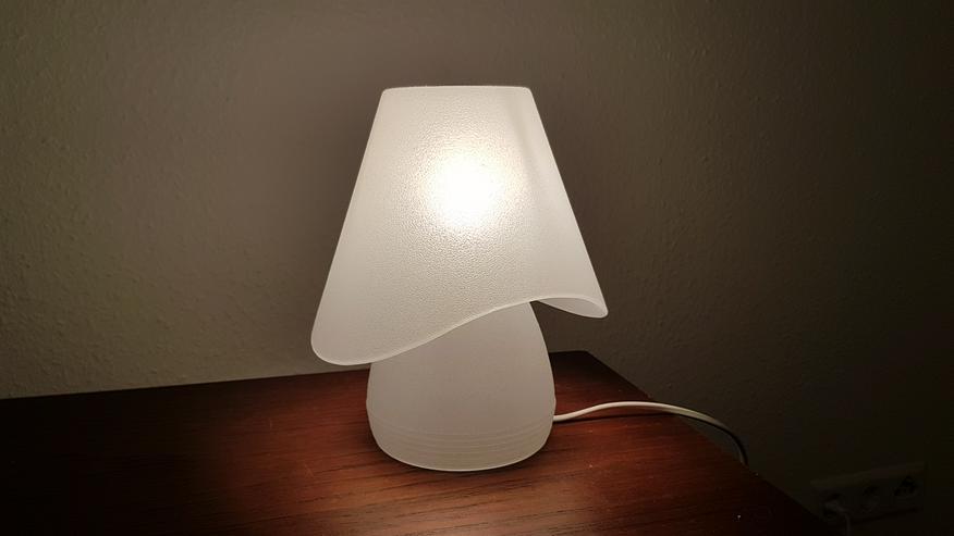 Bild 2: 2 Nachttischlampen (Glas) zu verkaufen