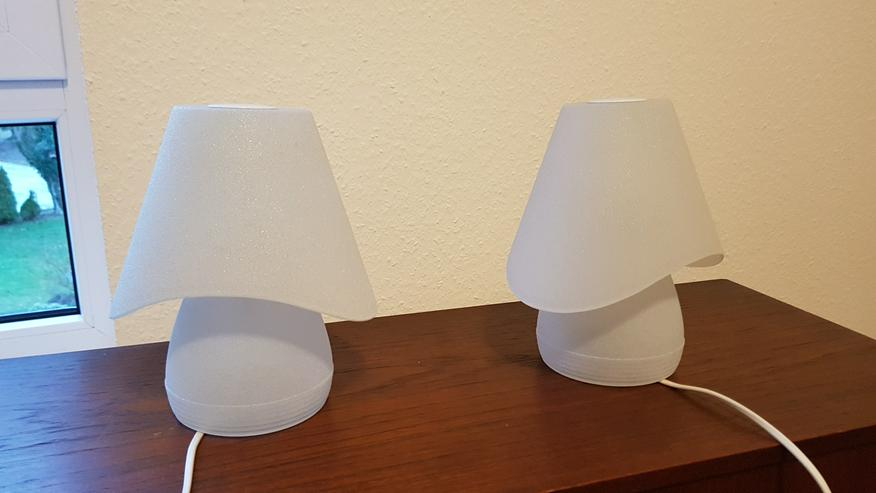 2 Nachttischlampen (Glas) zu verkaufen