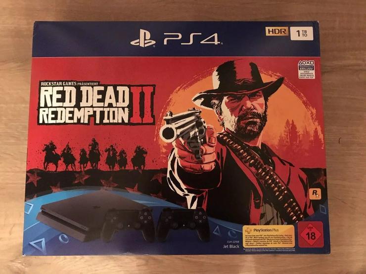 Playstation 4 Slim 1TB mit 2 Controller und Red Dead Redemption 2